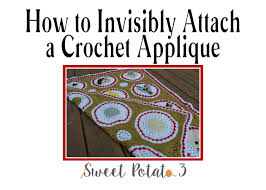 msp halloween background how to invisibly attach a crochet applique sweet potato 3