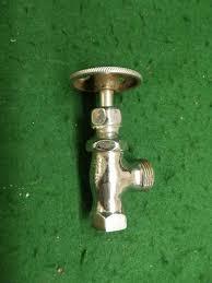 vintage sink water line shut off valve bathroom antique plumbing