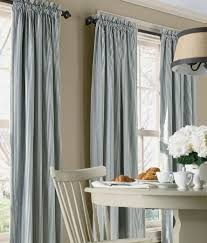 Blue Ticking Curtains Ticking Stripes Rod Pocket Curtains Country Curtains New