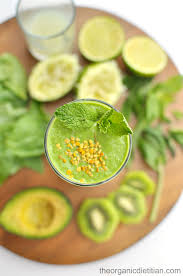 making green green monster mojito smoothie the organic dietitian