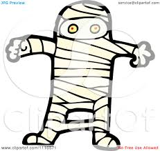 clipart halloween mummy 1 royalty free vector illustration by