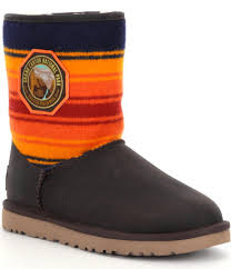 womens ugg pendleton boots lyst ugg national parks grand boots in orange
