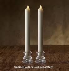 luminara moving led taper candles pair indoor
