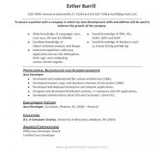 Sql Server Developer Resume Sample Core Java Resume Resume Cv Cover Letter