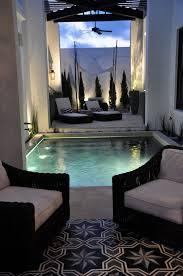 dark indulgence black bathtubs private pool small swimming