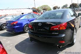 lexus isf blue is f next to an is250 comparison image lexus is forum