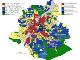map brussels map of socio economic divisions by neighbourhood in the brussels