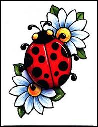 Ladybug And Flower Tattoos - butterflies flowers with lady bug tattoo design all tattoos for men