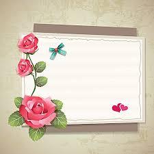 envelope border pattern envelope roses border background material rose shading vector