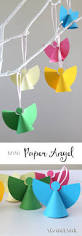 mini paper angel ornaments a simple christmas craft for kids with