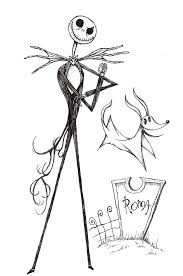 nightmare before christmas coloring pages jack skellington coloring pages