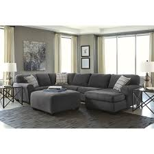 ashley furniture chair and ottoman ashley sorenton 4 piece right chaise sectional with ottoman in slate