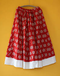 cotton skirts skirts crimson printed cotton hastavarna studio
