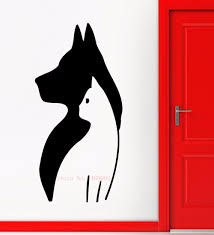 online get cheap american pet shops aliexpress com alibaba group e242 cute animal diy dog cat mural pet shop spa grooming salon veterinary wall decal wall