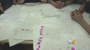 long island students write letters for victims of hurricane harvey