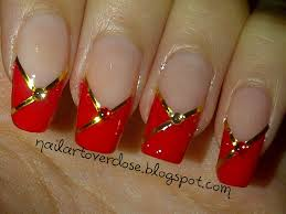 new year u0027s nail art chinese new year cheongsam inspired nails