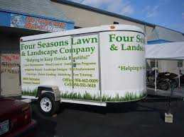 vinyl lettering and vinyl graphics for four seasons landscaping in