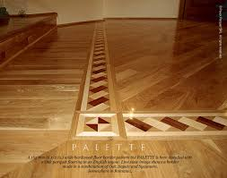 wood flooring with inlay floor border inlay installed with