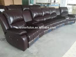 Home Theater Sofa by 4 Seats Genuine Leather Home Theater Sofa Recliner Ls601 4 With