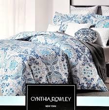 Floral Medallion Duvet Cover Cynthia Rowley 3pc Cotton Duvet Cover Set Gray Royal Blue