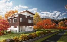 modular home builder greenfab struts their leed stuff at ibs