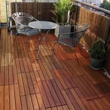 interlocking 8 slat design eucalyptus deck tile 14228695