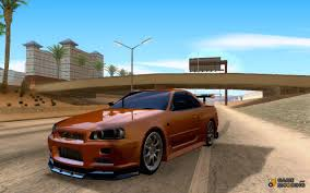 nissan skyline r34 modified skyline r34 for gta san andreas