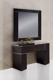 Wall Console Table Modrest Hampton Modern Console Table With Mirror In Dark Wenge