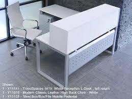 L Desk Modern White L Shaped Reception Desk