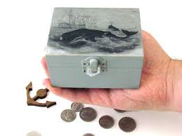 themed jewelry box nautical jewelry box whale hunt rustic small wooden box whale