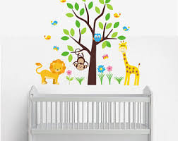 Animal Wall Decal Etsy - Animal wall stickers for kids rooms
