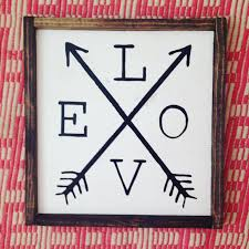 Love Home Decor Sign by Rustic Love Arrow Sign Wall Hanging Home Decor