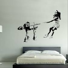 stormtrooper from banksy on your wall it s possible girl walking robot