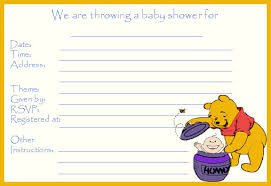 free printable winnie the pooh baby shower invitations zdornac info