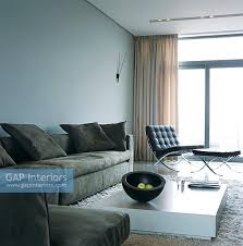 Barcelona Chair Interior Gap Interiors Modern Living Room With Barcelona Chair Image No
