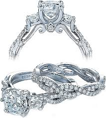 twisted band engagement ring verragio twist shank engagement ring ins 7055r