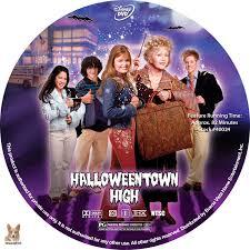 halloween town movies halloweentown high dvd label 2004 r1 custom