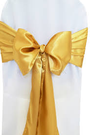 gold chair sashes gold satin chair sashes bows ties wholesale