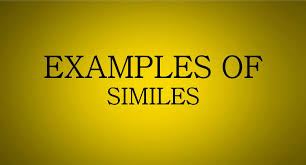 examples of similes similes examples for kids u0026 children youtube