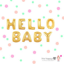 hello baby shower 16 gold hello baby balloons banner baby shower balloons to