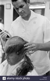 haircut black and white stock photos u0026 images alamy