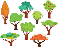 free cartoon trees vectors vector art u0026 graphics freevector com