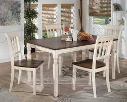 ashley dining room chairs signature design by ashley whitesburg 5 piece rectangular dining