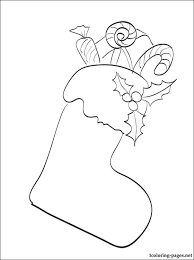christmas stocking coloring coloring pages