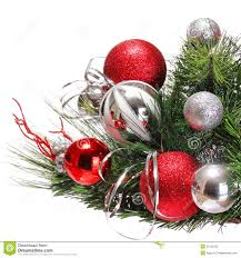 Red And Silver Christmas Tree Decorations Christmas Tree Red Ball Decorations