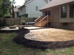 Stamped Patio Designs by Concrete Patio Design With Fire Pit Pinterest U2022 The World U0027s