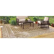 Outdoor Rug 4x6 Guide Gear Reversible 4 X 6 Outdoor Rug Scroll Pattern 582248
