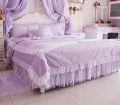 copriletti romantici romantico viola pizzo copriletto principessa comforter
