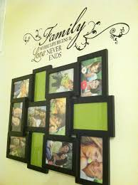 collage picture frames from hobby lobby also vinyl wall quote