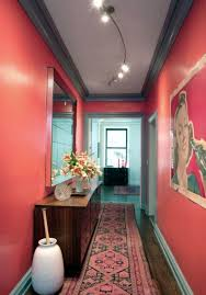 red hallway color paint scheme design choose the impression and